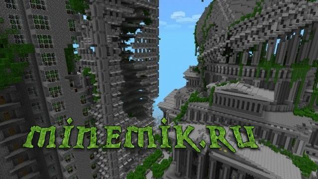 скачать карту заброшенный город для майнкрафт #9