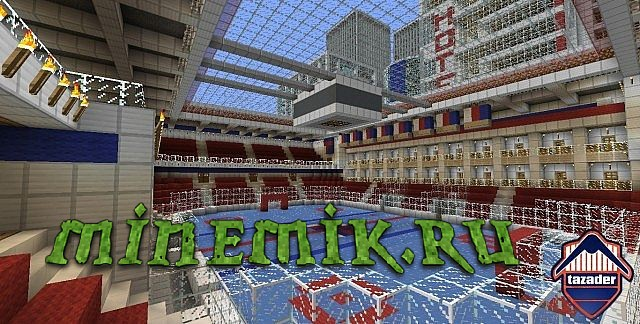 Огромный мегаполис для Minecraft PE.