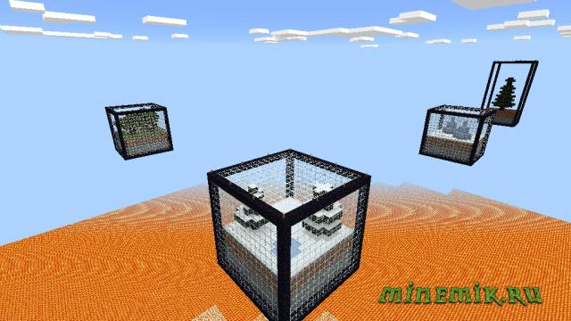 Карта на выживание в блоках для MCPE