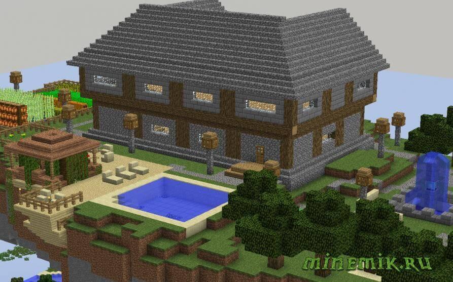 Карта Steve Holding House для Minecraft PE
