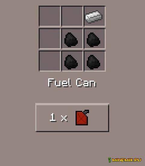Рецепт крафта канистры с бензином
