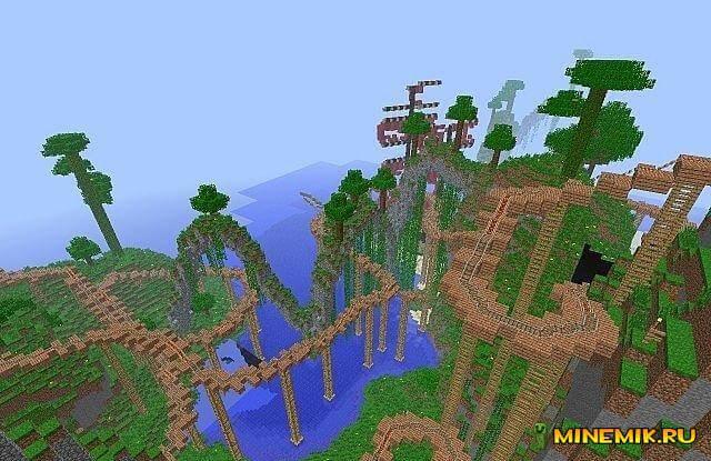 Tribe Rollercoaster — карта для minecraft 1.7.10