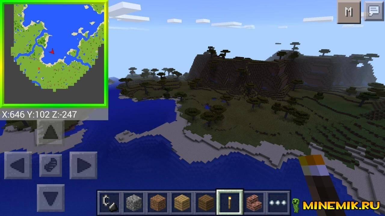Minimap — мод на мини-карту майнкрафт PE