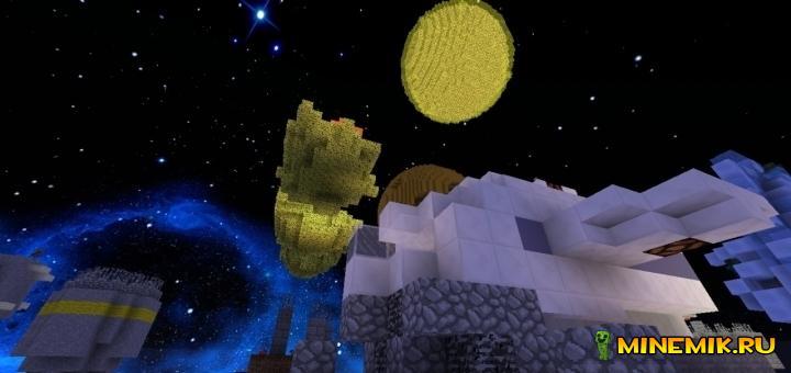 Карта I Wanna Go To Space для minecraft PC 1.8