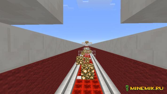 Карта Red Parkour для minecraft PE 0.13