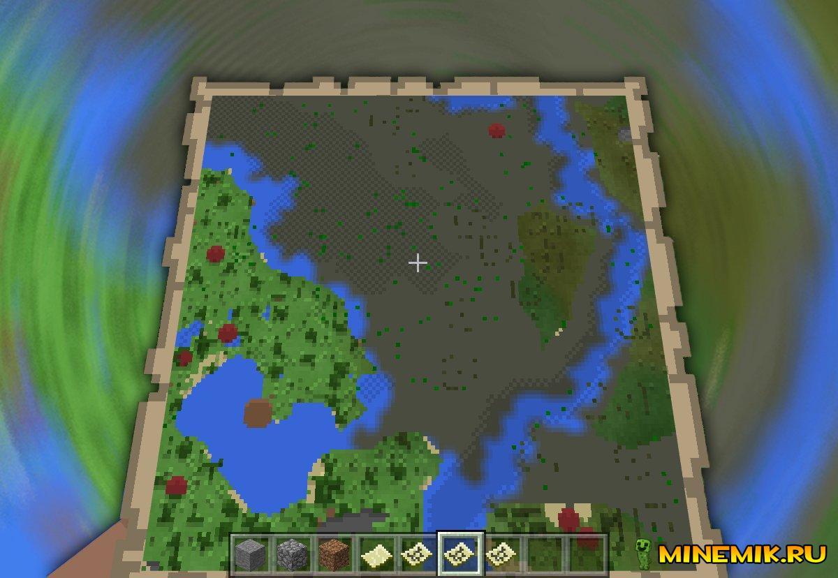 Карта в Minecraft PE