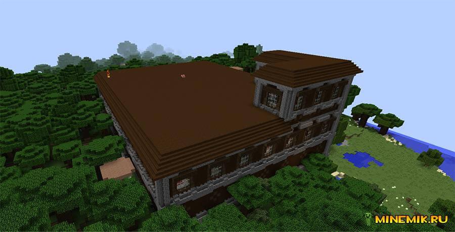 Лесной особняк в Minecraft Pocket Edition 0.18.0