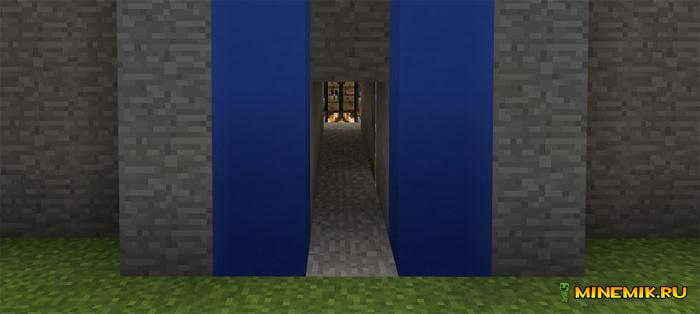 Карта на секретные комнаты для Minecraft PE