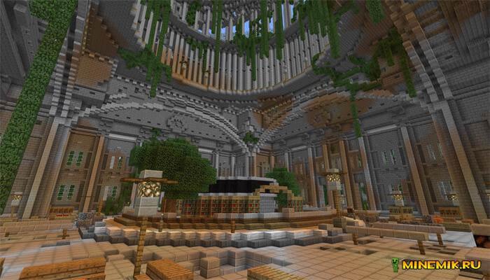 Карта приключение в апокалиптическом городе для Minecraft PE