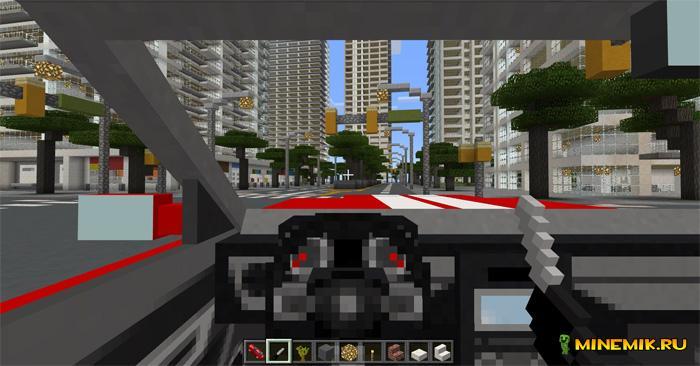Аддон на форд мустанг для Minecraft PE