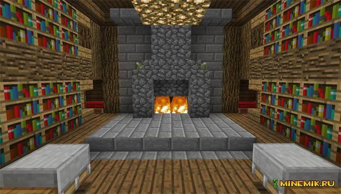 Карта на изменение вида комнаты для Minecraft PE