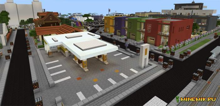 Карта город УСК для Minecraft PE