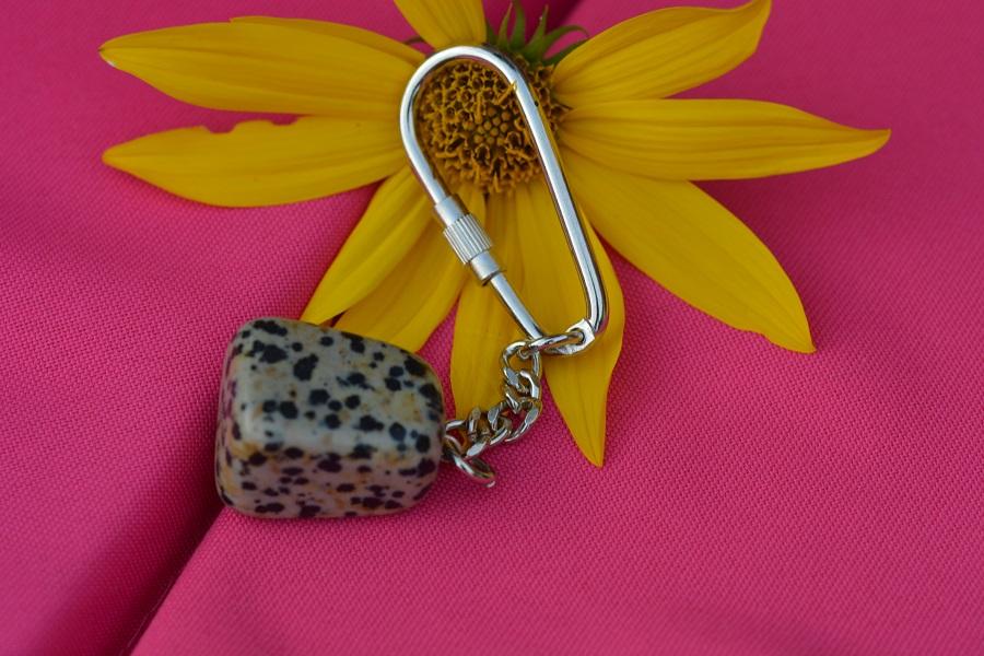 Porte clés jaspe dalmatien