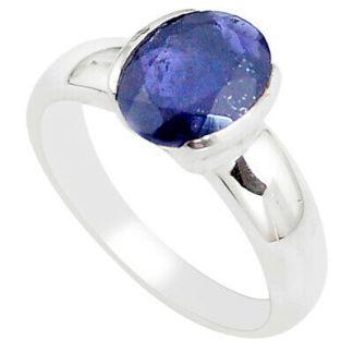 Iolite bleu taille 5.5