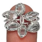 Diamand Herkimer USA argent Taille 59