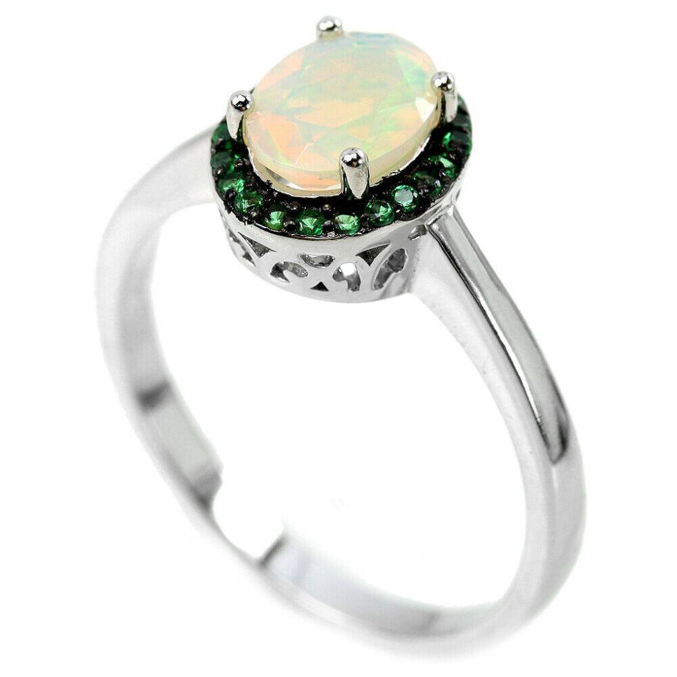 Bague avec une Opale Rainbow – Argent