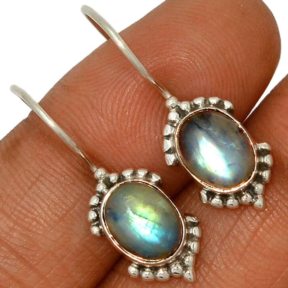 Boucles d'Oreilles Rainbow Moonstone – Inde
