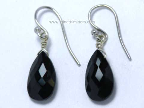 Black Tourmaline Jewelry and Tourmalinated Quartz Crystal