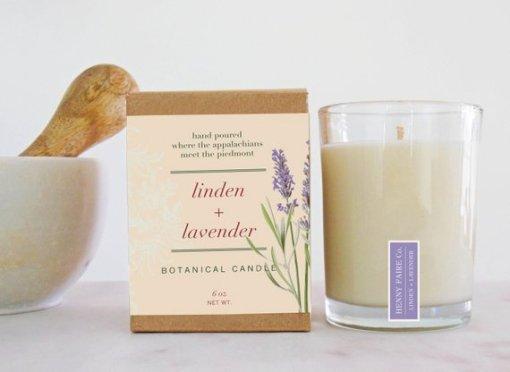 Linden & Lavender Botanical Candle
