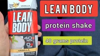 LEAN BODY protein shake 40 grams of protein 💪