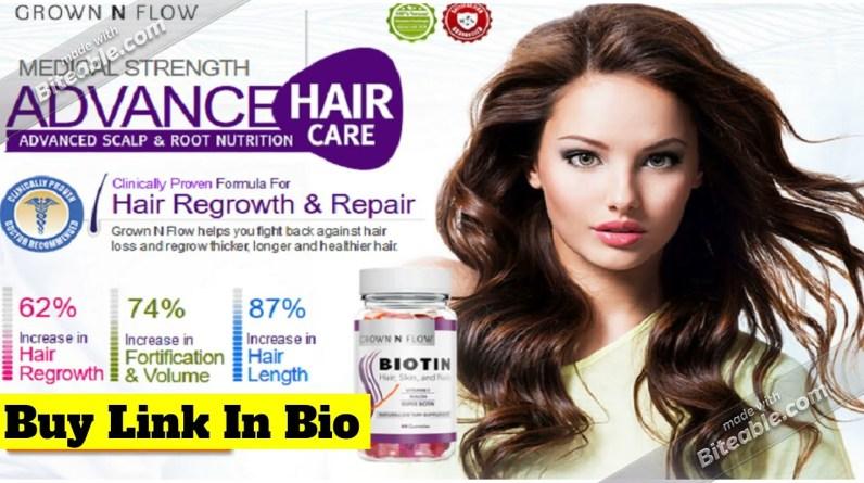 Grown N Flow | Grown N Flow Biotin | Grown N Flow Biotin Hair Formula Reviews!
