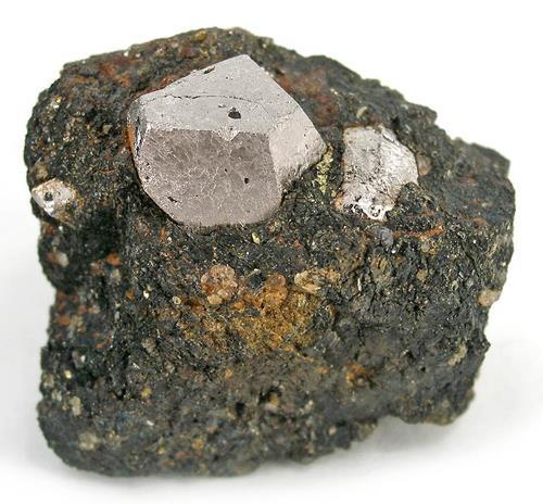 Cobaltita fuertemente cristalizada en matriz