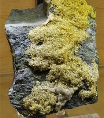 Alambres de oro en matriz