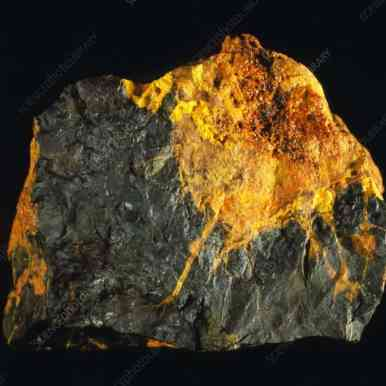 Uraninita (pitchblende) y gummita