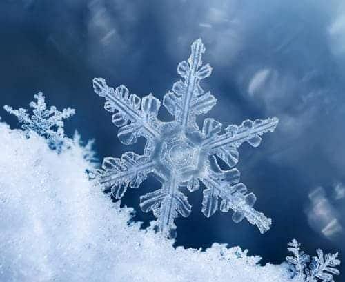 Cristal de copo de nieve