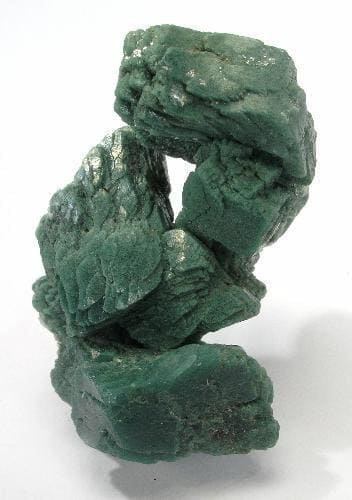 Heulandita verde oscuro