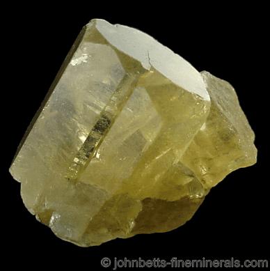Cristales de heliodor entrecruzados