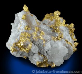 Matriz de oro en cuarzo