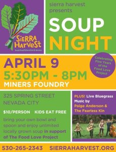 Sierra Harvest Soup Night