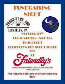 "(Troop 600 ""Friendly's Fundraising Night"" Flyer.)"