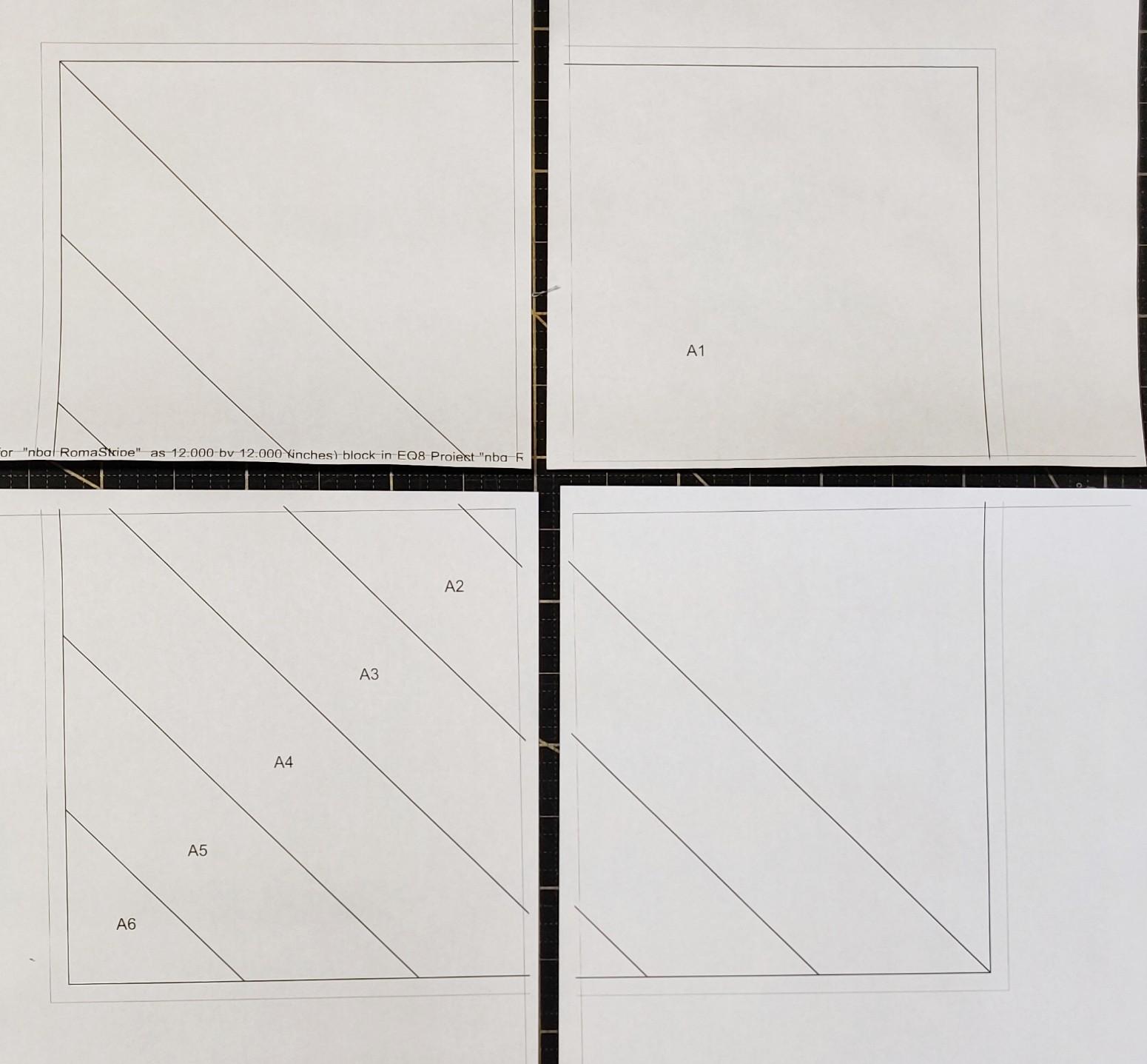 vier Einzelteile Roman Stripe Block FPP