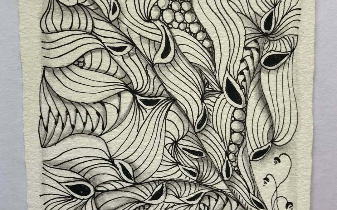 zentangle, sakura micron pen, meditative drawing, creative play
