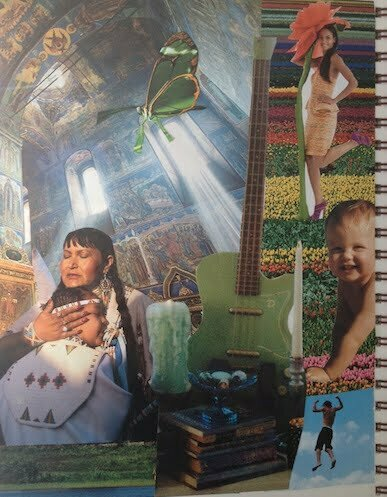 Intuitive Collage and Spring Cleaning for a Woman's Spirit