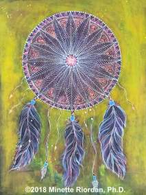 Mixed Media Dreamcatcher Painting