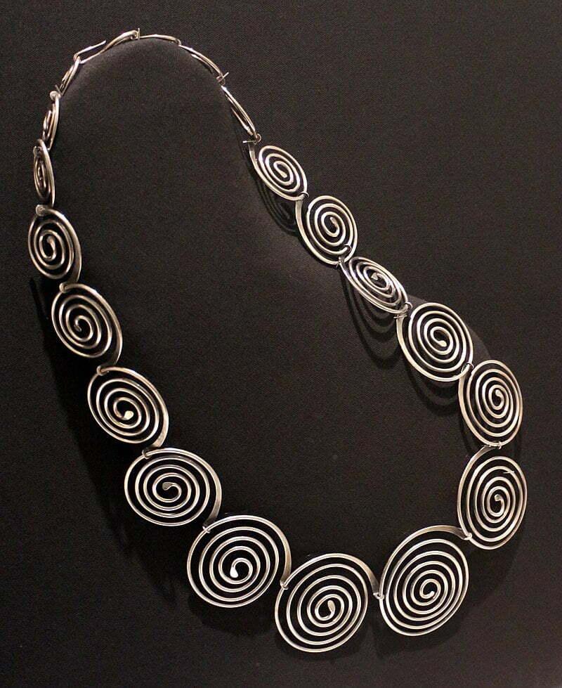 principles of design rhythm spiral necklace