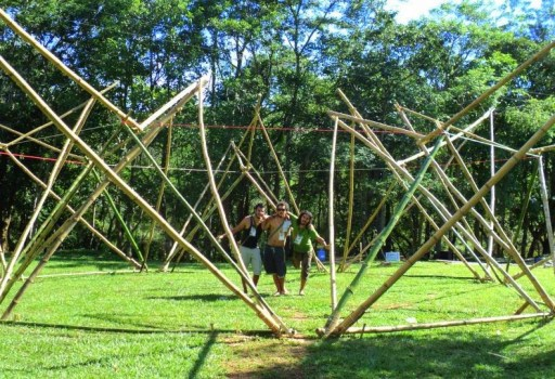 Bamboo house construction