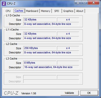 CPU-Z (Cache Screen)