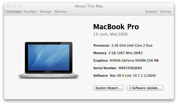 About This Mac - Overview