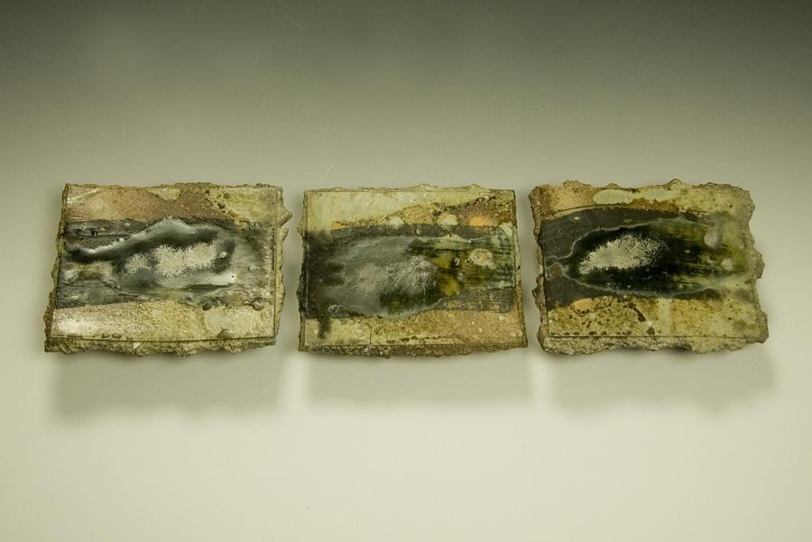 Noborigama kiln, black porcelain slip, Blue celadon, wood ash glaze
