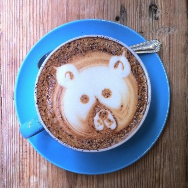 Bear-faced cappuccino