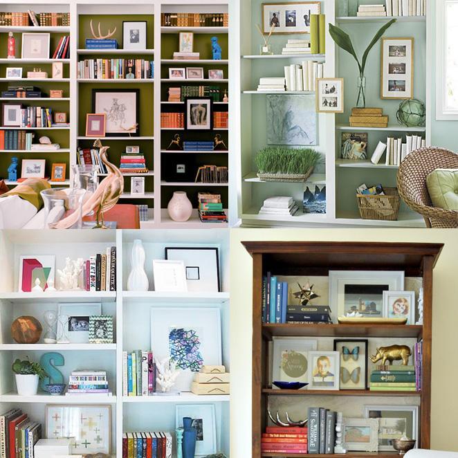 Decorando a estante de livros