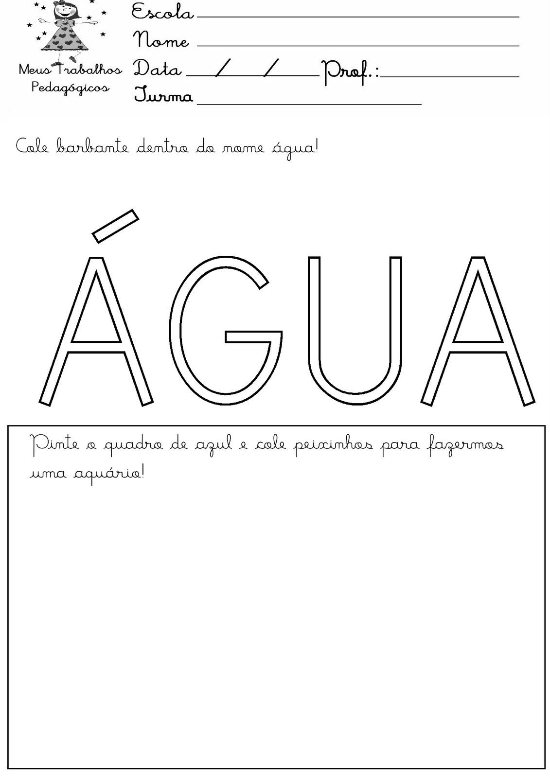 Atividades Dia Da Agua