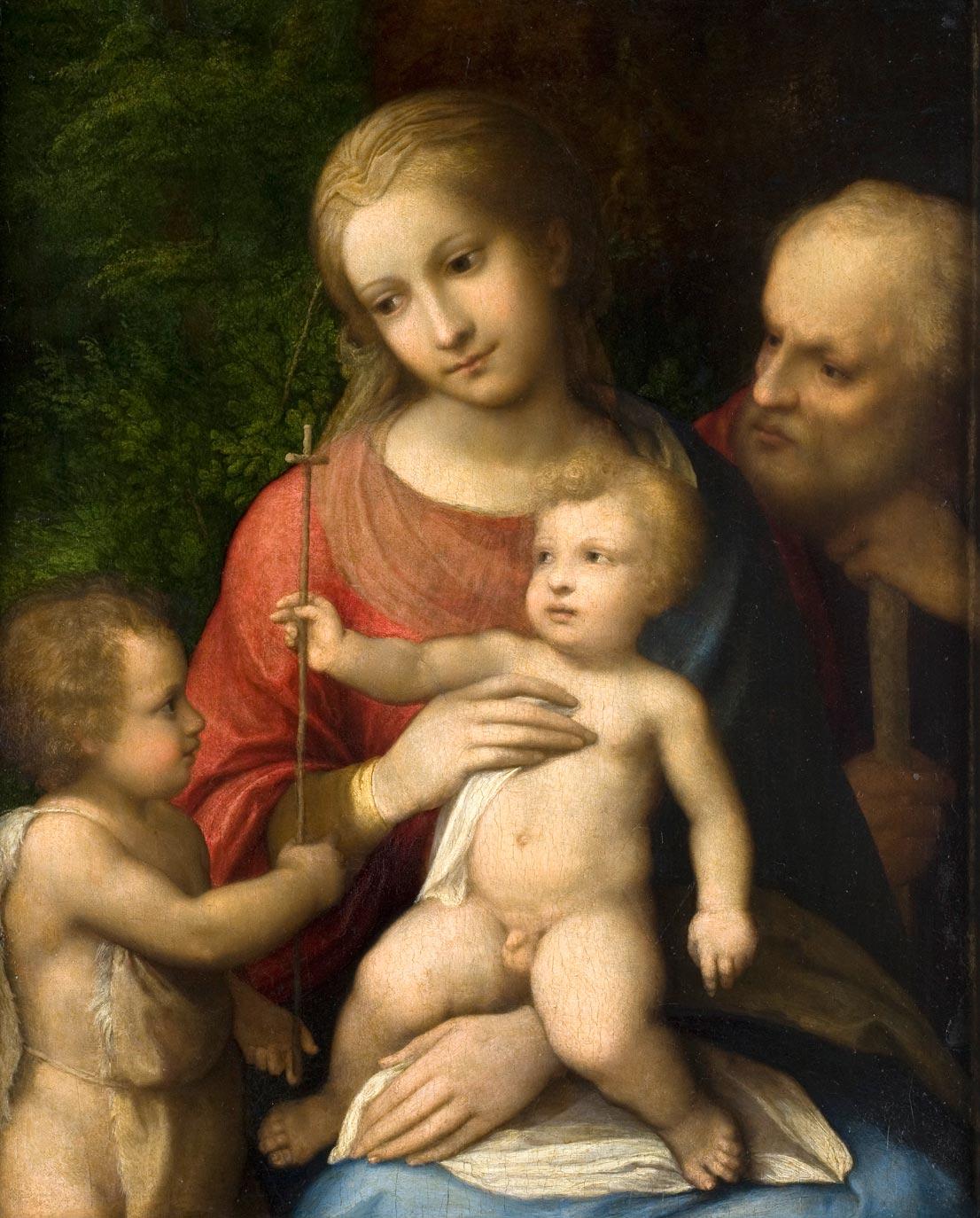 Le Corrège, 1518-1519, La Sainte famille, bois.