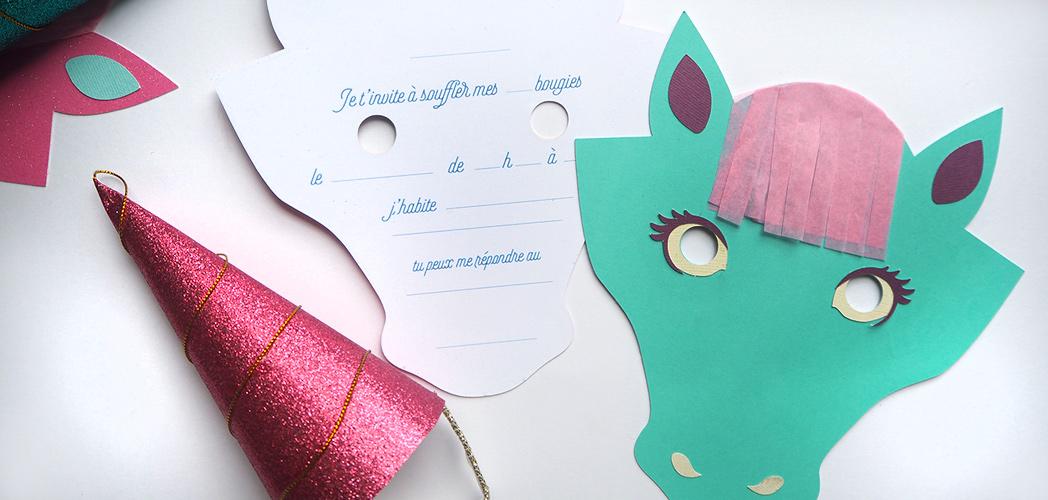 l invitation licorne printable minireyve