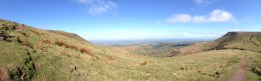 Lord Hereford's Knob to the left, Hay Bluff to the Right, Brecon Beacons