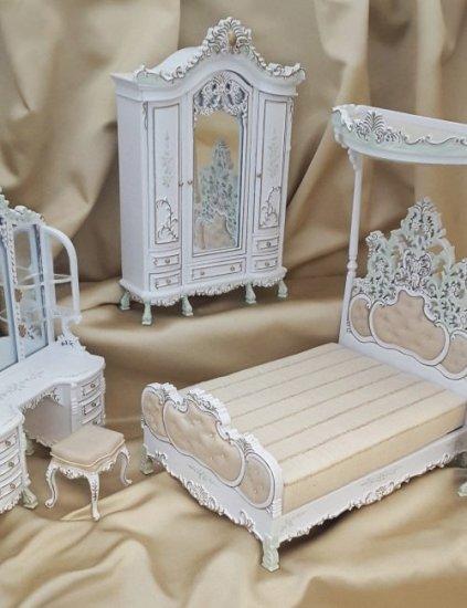 Monticello Bedroom Set : monticello, bedroom, Cristina, Bedroom, [p015-018], 2.00, Miniature, Cottage,, Dollhouse, Miniatures, Nashville...